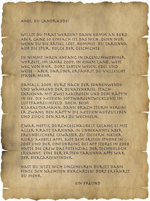 Brief an einei Landradde