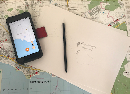 Karte mit GPS Drawing